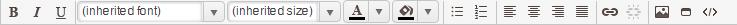 RTF toolbar