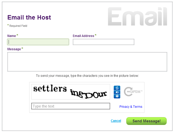Email the host
