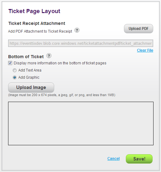 Ticket Page Layout